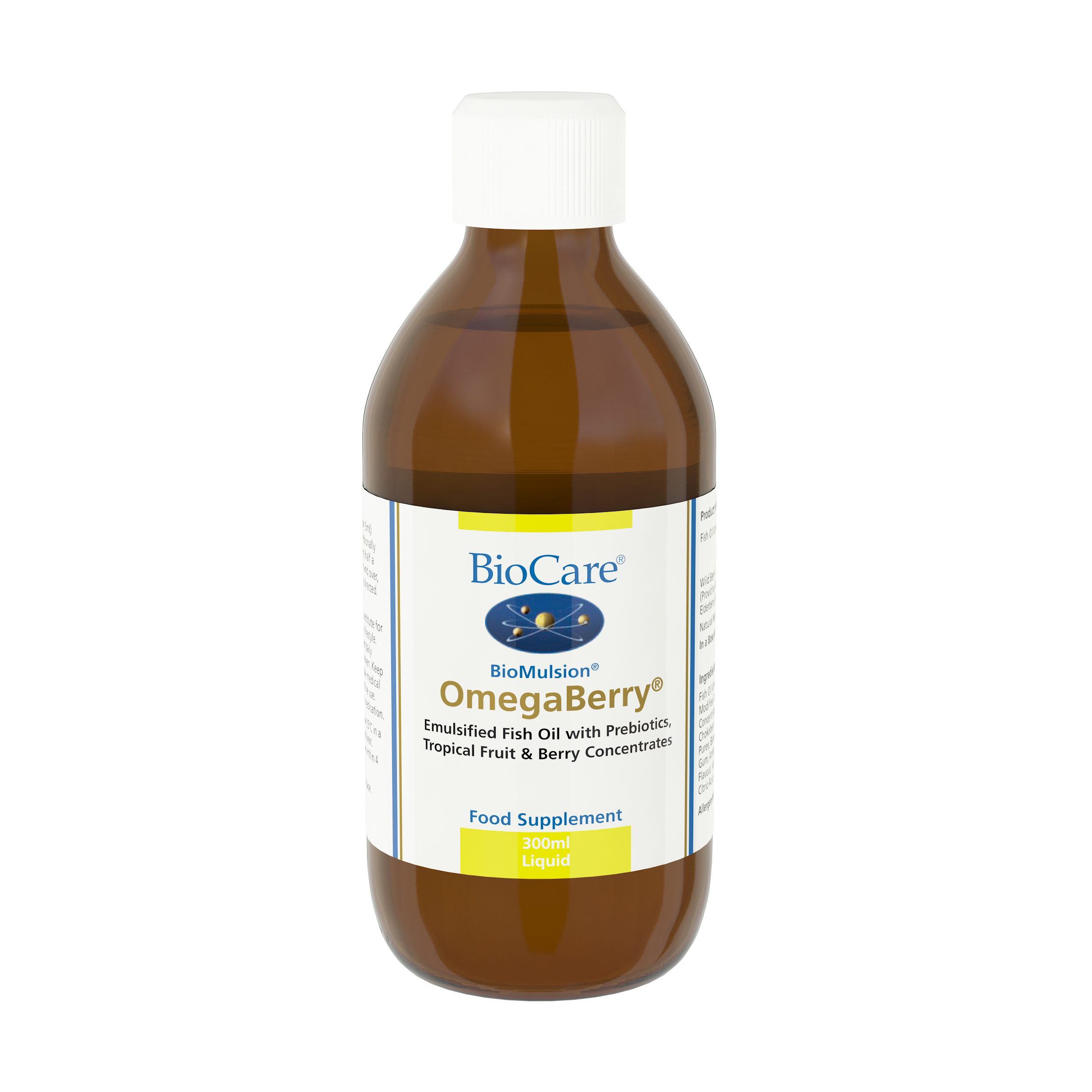 Biocare biomulsion omegaberry 300ml at for Fish oil liquid form