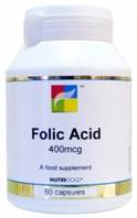 Nutrigold Folic Acid 400mcg - 60 caps