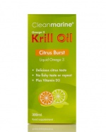 Cleanmarine Krill Oil for Adults - Citrus Burst Liquid - 300ml