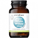 Viridian Organic White Willow 400mg Capsules