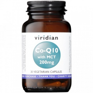 Viridian Co-enzyme Q10 200mg with MCT 30 Capsules