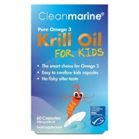 Cleanmarine Krill Oil for Kids - 200mg - 60 Caps