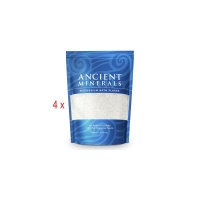 Ancient Minerals - Professional Strength - Magnesium Bath Flakes (4 x 3.629kg)