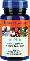 Higher Nature Alpha Lipoic Acid Acetyl L Carnitine