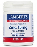 Lamberts Zinc 15mg (As Citrate) - tabs