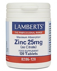 Lamberts Zinc 25mg (as Citrate) (120)