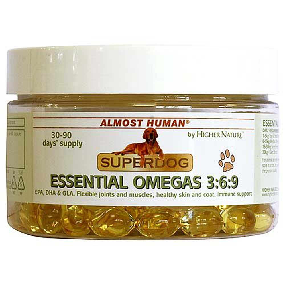 Higher Nature Almost Human SuperPet Organic Omegas 3:6:9 Oil Size 200