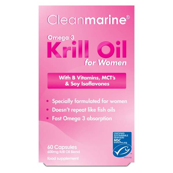Cleanmarine Krill Oil for Women - 60 caps