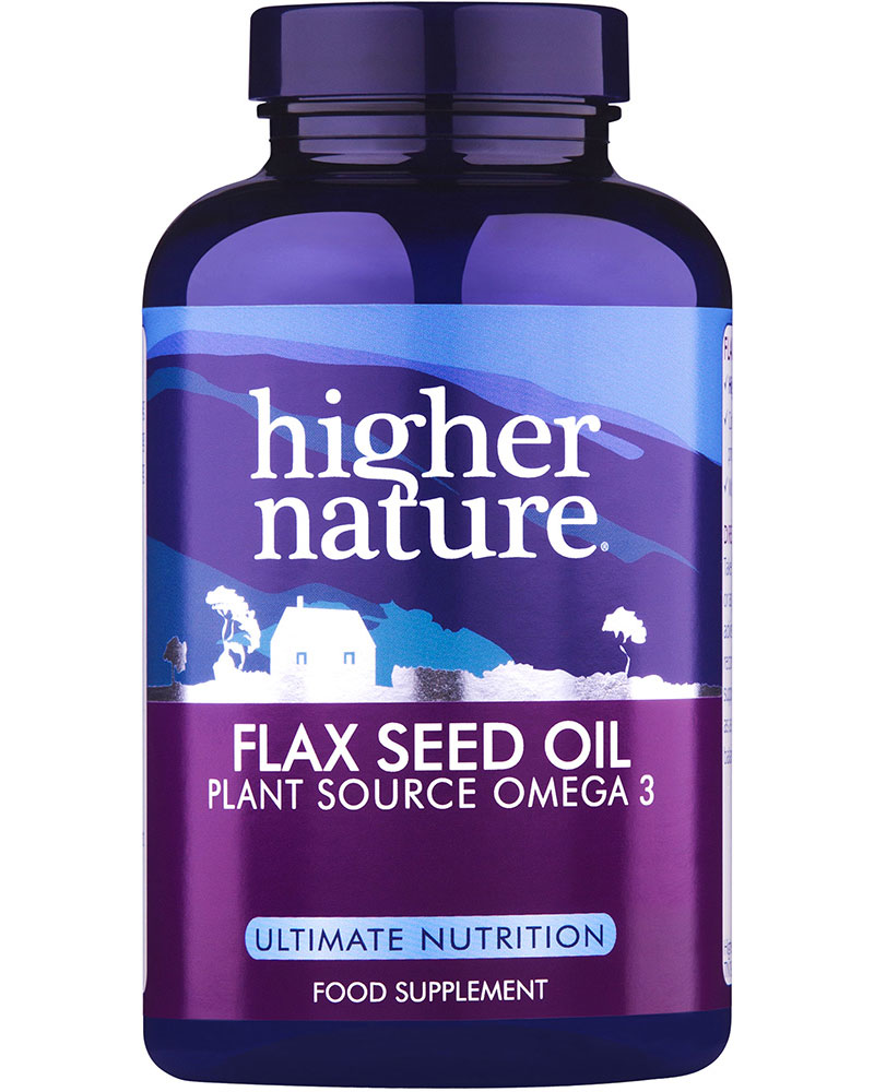 Higher Nature Flax Seed Oil Capsules 1000mg
