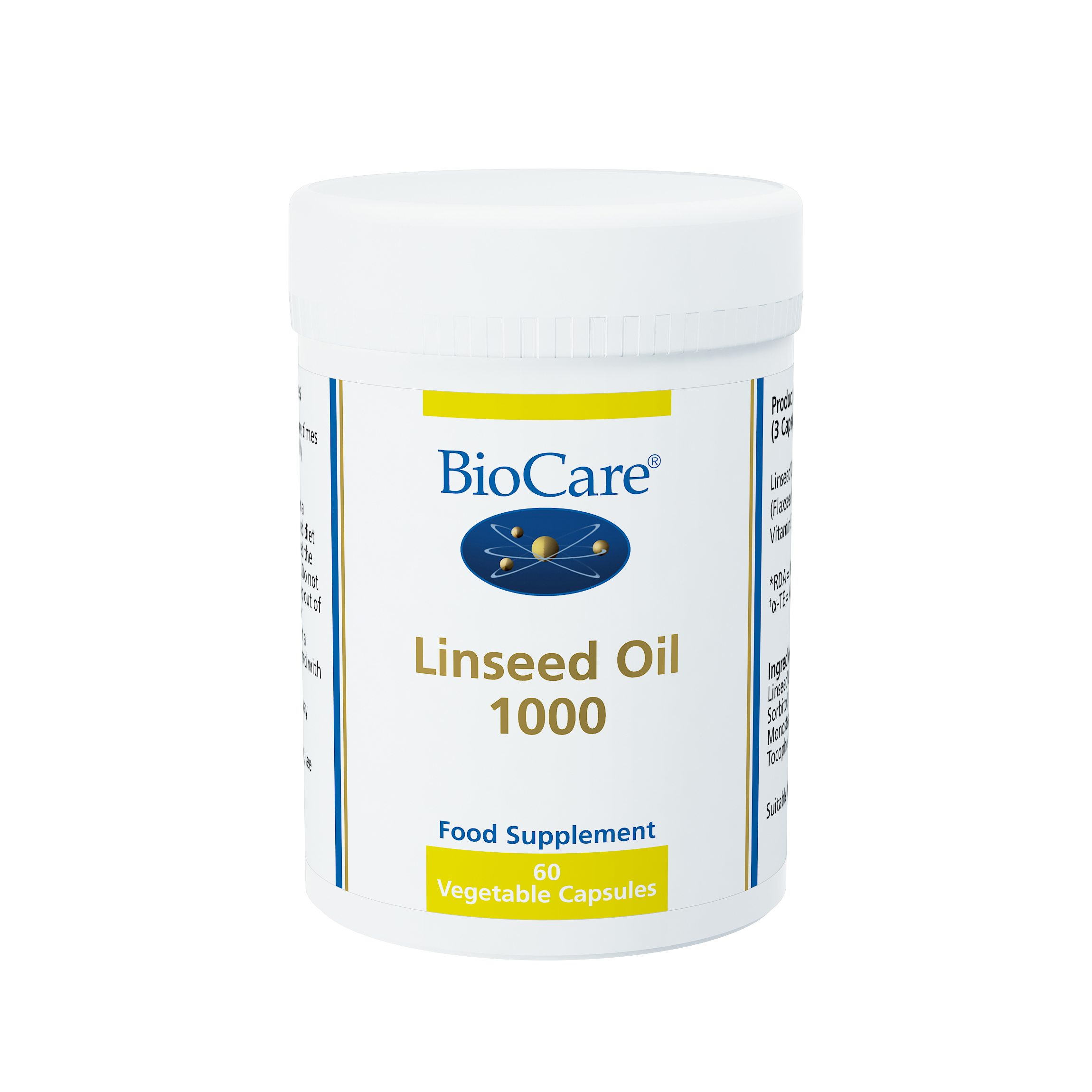 BioCare Linseed Oil 1000 (Flaxseed Oil)