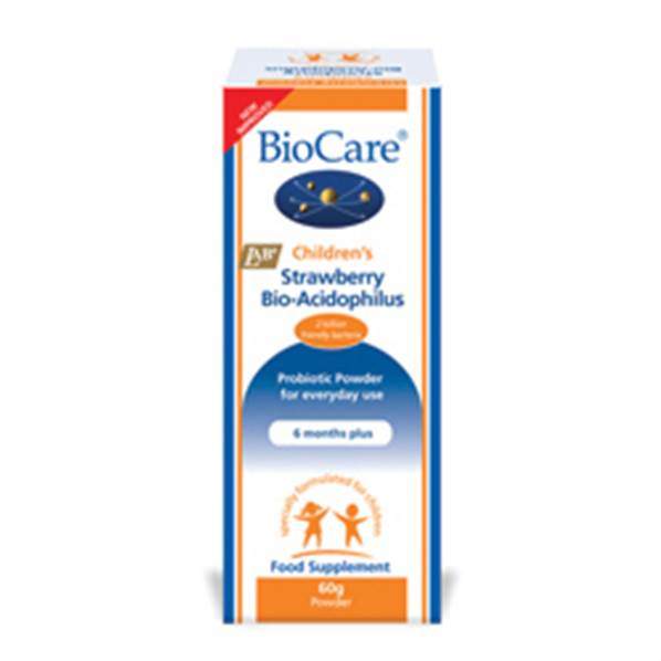 BioCare Children's Strawberry Bio-Acidophilus - 60g Powder