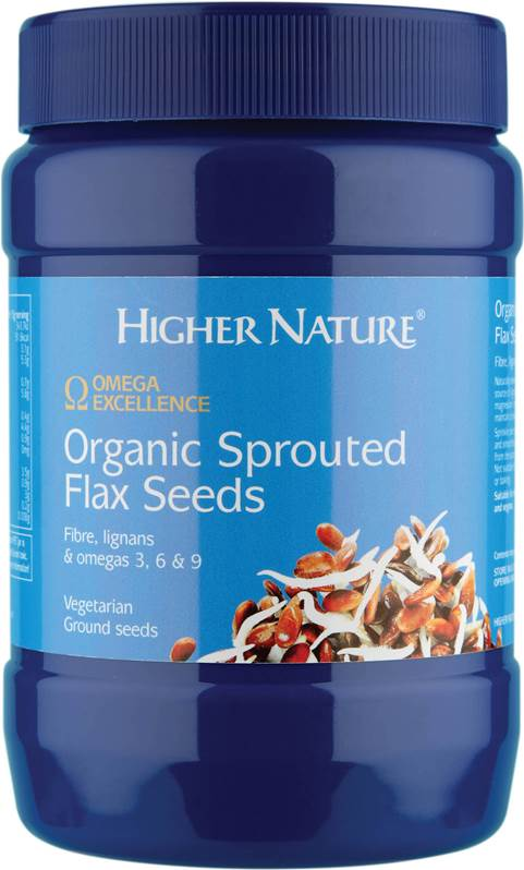 Higher Nature Organic Sprouted Flax Seeds - Size 250