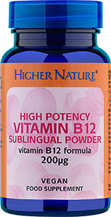 Higher Nature High Potency Vitamin B12 Sublingual Powder Size 30g