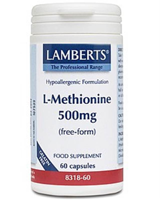 Lamberts L-Methionine 500mg (60)