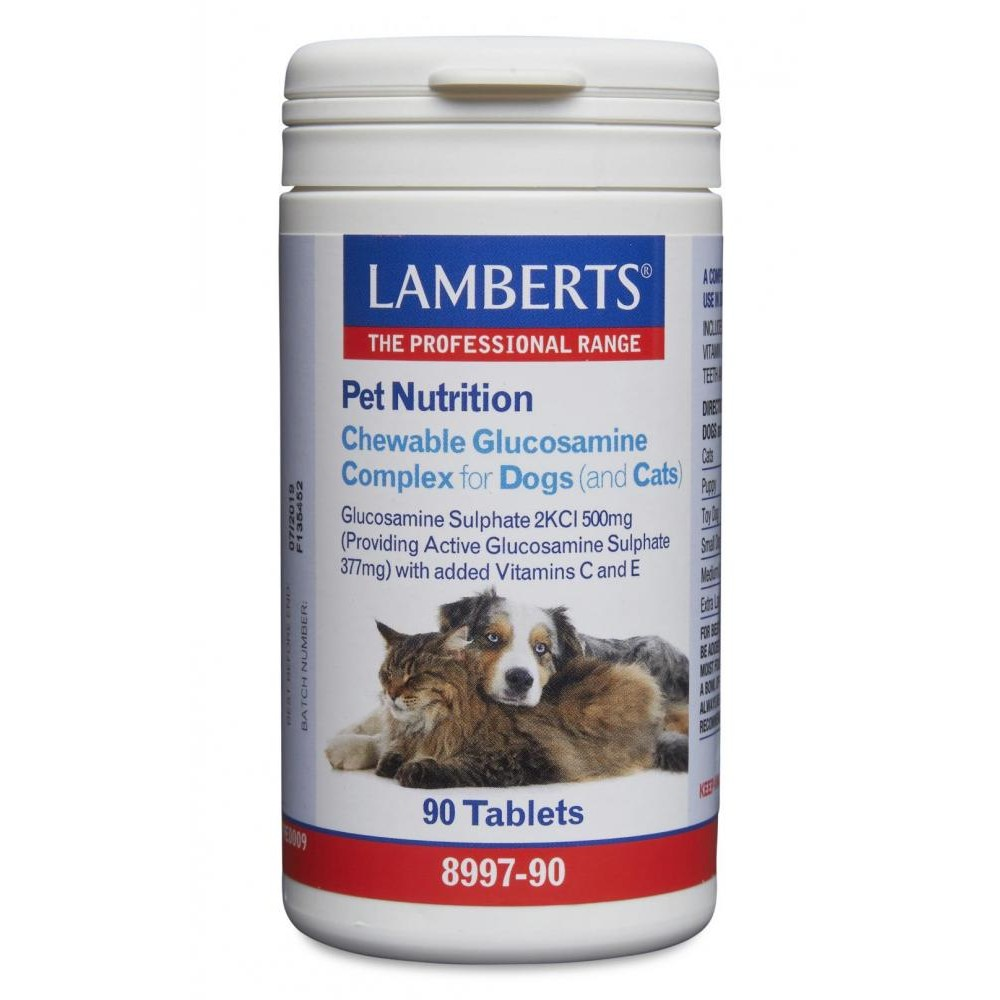 Lamberts Chewable Glucosamine Complex for Dogs (& Cats) (90)