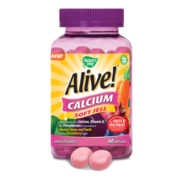 Nature's Way Alive! Calcium Soft Jells 60 Gummies