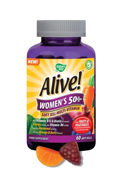 Nature's Way Alive! Women's 50+ Soft Jells Multi-Vitamin 60 Chewables