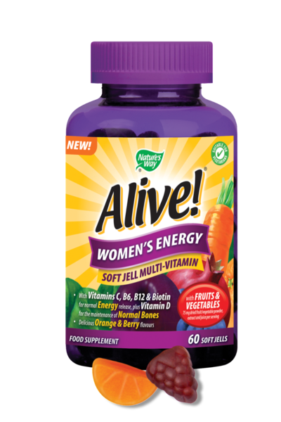 Nature's Way Alive! Women's Soft Jells Multi-Vitamin 60 Chewables