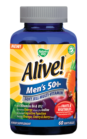 Nature's Way Alive! Men's 50+ Multivitamin Soft Jells