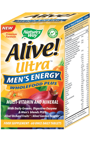 Nature's Way Alive! Men's Energy Soft Jell Multi-Vitamin 60 Chewables