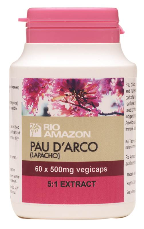 Rio Amazon Pau d'Arco (Lapacho) Bark Extract -500mg