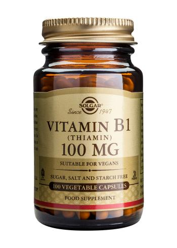 Solgar Vitamin B1 100 mg (Thiamin) Vegetable Capsules (100)