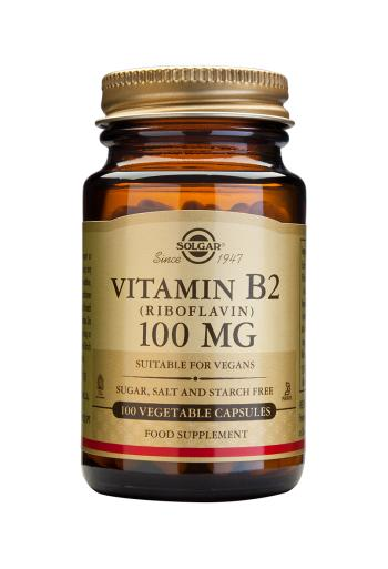 Solgar Vitamin B2 100 mg (Riboflavin) Vegetable Capsules