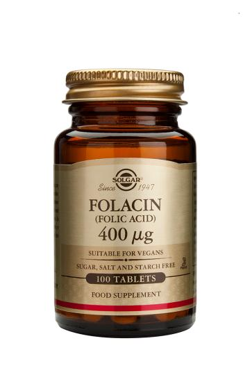 Solgar Folacin 400 (Folic Acid) Tablets