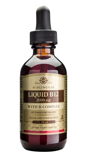 Solgar Liquid B12 2000 µg with B-Complex 59ml