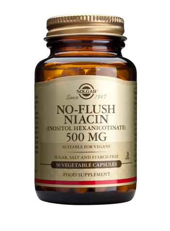 Solgar No-Flush Niacin 500mg - 50