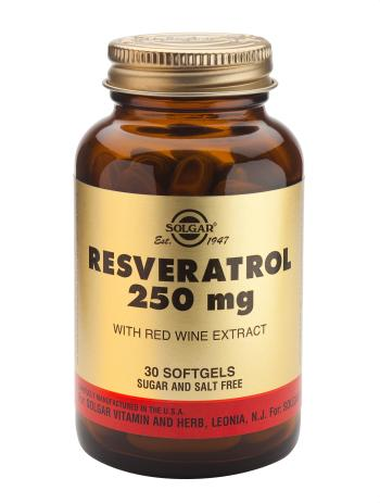 Solgar Resveratrol 250mg Softgels - 30