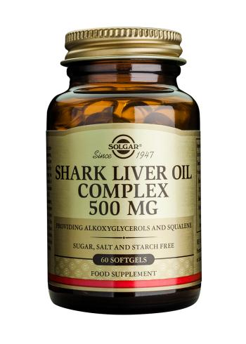 Solgar Shark Liver Oil Complex 500 mg Softgels (60)