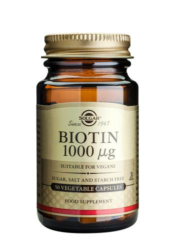 Solgar Biotin 1000 µg Vegetable Capsules