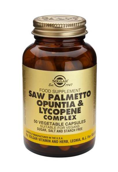 Solgar Saw Palmetto Opuntia & Lycopene Complex Vegetable Capsules