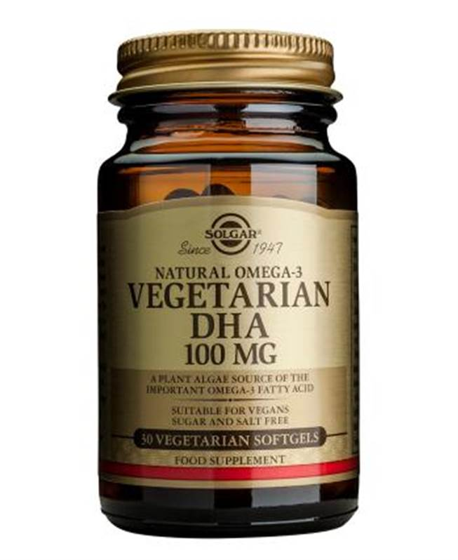 Solgar Vegetarian DHA 100 mg Softgels