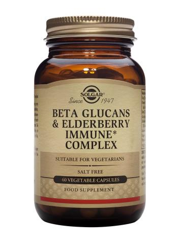 Solgar Beta Glucans & Elderberry Immune Complex Vegetable Capsules