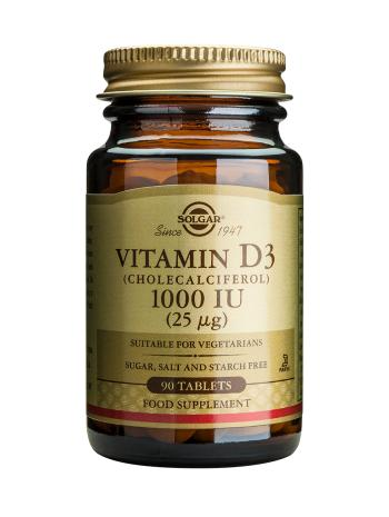 Solgar Vitamin D3 1000iu Tablets