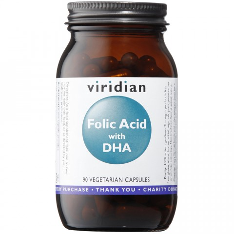 Viridian Folic Acid (400ug) with DHA Veg Caps (90)