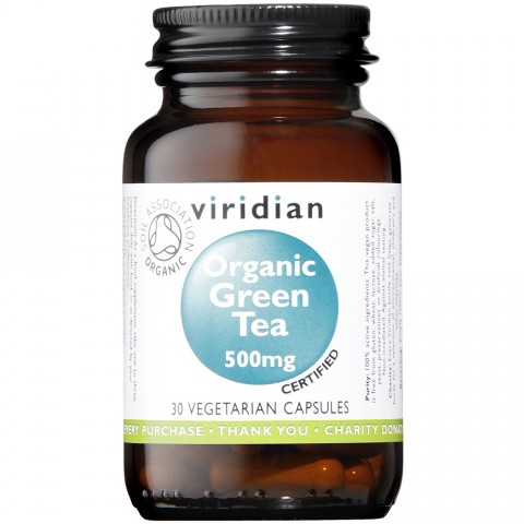 Viridian Organic Green Tea 500mg Capsules