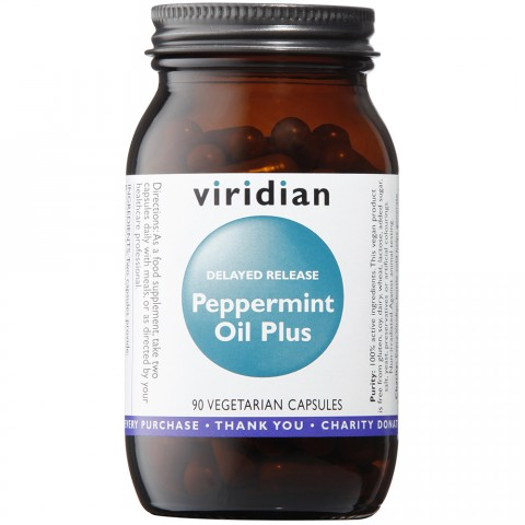 Viridian Peppermint Oil Plus 90 Capsules