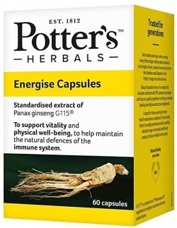 Potter's Herbals Energise 60 Capsules