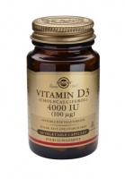 Solgar Vitamin D3 4000 IU (100 µg) Vegetable Capsules
