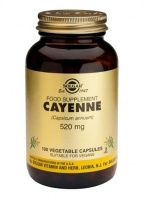 Solgar Cayenne 520 mg Vegetable Capsules (100)