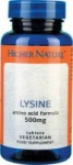 Higher Nature Lysine 500mg Size 90