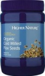 Higher Nature Omega Cold Milled Flax Seeds 250g