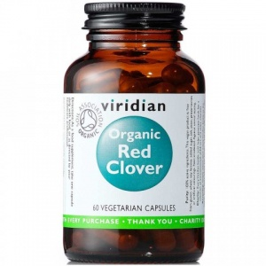 Viridian Organic Red Clover 450mg 60 Capsules